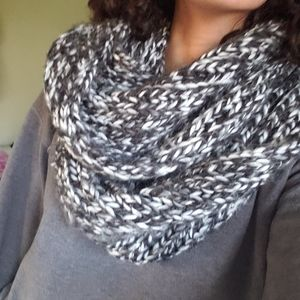 Black and white infinity scarf by Francesca's